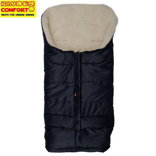Меховой конверт в коляску и санки Polar (Темно-синий), Kinder Comfort