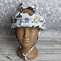 Шлем детский для защиты головы от ударов Лисички с ушками