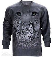3D футболка с длинным рукавом The Mountain 453005 Snow Leopards
