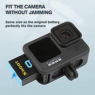 Набір SHOOT: Зарядний пристрій на два місця + один акумулятор для GoPro HERO 9 Black, фото 2