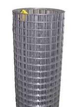 12х12мм, Ø 0.7мм (1х30м) - Черный металл. Сетка сварная штукатурная рулонная