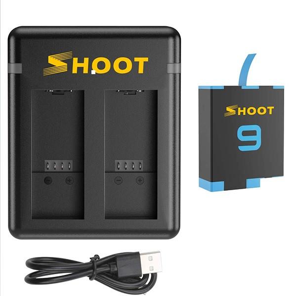 Набор SHOOT: Зарядное устройство на два места + один аккумулятор для GoPro HERO 9 Black