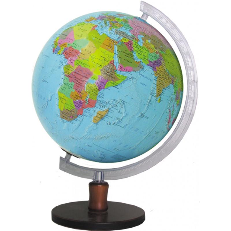 Глобус политический 320 мм на деревянной подставке