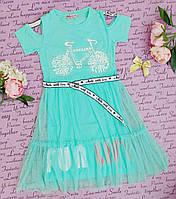 Подростковое платье на девочку р 8-16 лет мята