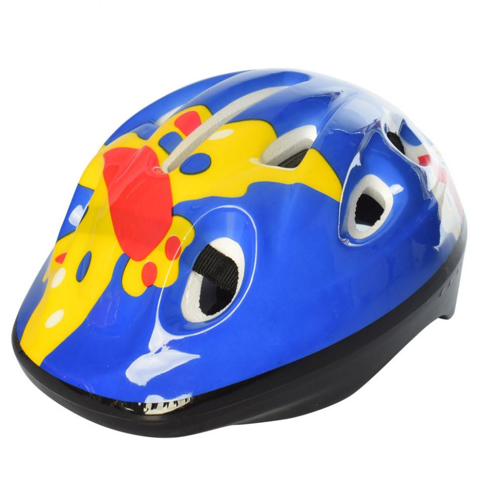 Дитячий шолом MS 1955 для катання на велосипеді (Синьо-жовтий)