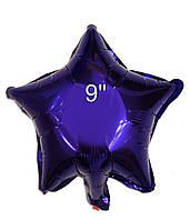 Фольгированный воздушный шар Звезда фиолетовая без рисунка, шары звезды 9 дюйм, Китай