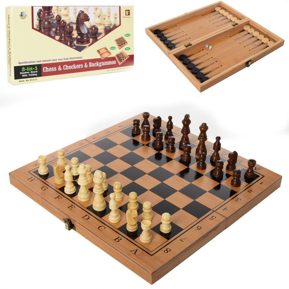 Настільна гра шахи 822, 3в1 (нарди,шашки)