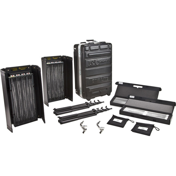 Kino Flo Diva-Lite 415 Universal 2-Light Kit with Flight Case (KIT-DV42-120U)
