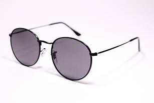 Солнцезащитные очки в стиле Ray Ban Round черные. круглые очки унисекс