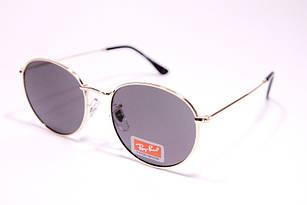 Солнцезащитные очки в стиле Ray Ban Round, круглые очки в золотой оправе