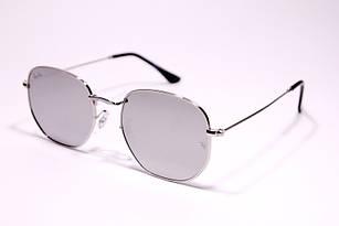 Солнцезащитные очки в стиле Ray Ban Hexagonal зеркальные, круглые очки унисекс