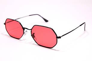 Солнцезащитные очки в стиле Ray Ban Octagonal, прямоугольные очки с красной линзой унисекс