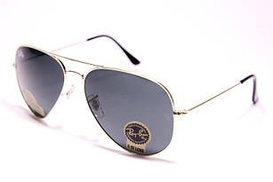 Легендарные солнцезащитные очки в стиле Ray Ban Aviator золотистые, очки авиатор линза стекло