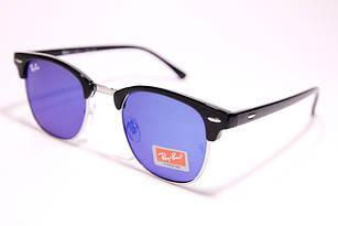 Легендарные солнцезащитные очки в стиле Ray Ban Clubmaster зеркальные, очки клабмастер унисекс