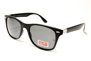 Солнцезащитные очки черные в стиле Ray Ban Wayfarer, очки вайфарер унисекс