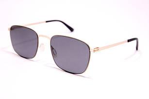 Солнцезащитные очки мужские в стиле Porsche Design в золотистой оправе