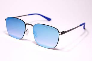 Солнцезащитные очки мужские в стиле Porsche Design зеркальные синие