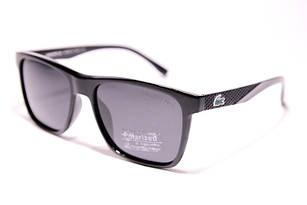 Солнцезащитные очки Lacoste черные с поляризацией (реплика)