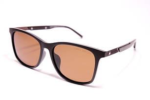 Солнцезащитные очки Tommy Hilfiger коричневые с поляризацией (реплика)