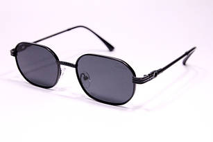 Солнцезащитные очки овальные Cartier черные (реплика)