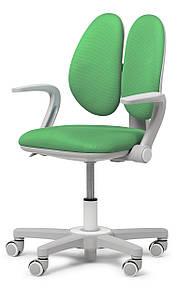 Ортопедическое кресло детское подростковое с подлокотниками 4-18+ лет Mente Dark Green ТМ FunDesk Зеленый