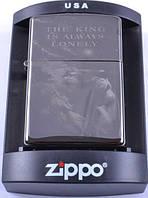 Зажигалка бензиновая Zippo THE KINGS IS ALWAYS LONELY