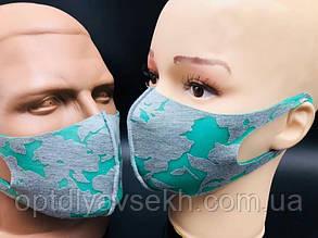 Многоразовая защитная маска - цветная Бирюзовый