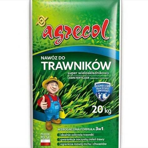 Добриво для газонів super багатокомпонентне NPK(15-5-7) 20 kg, Agrecol, фото 2