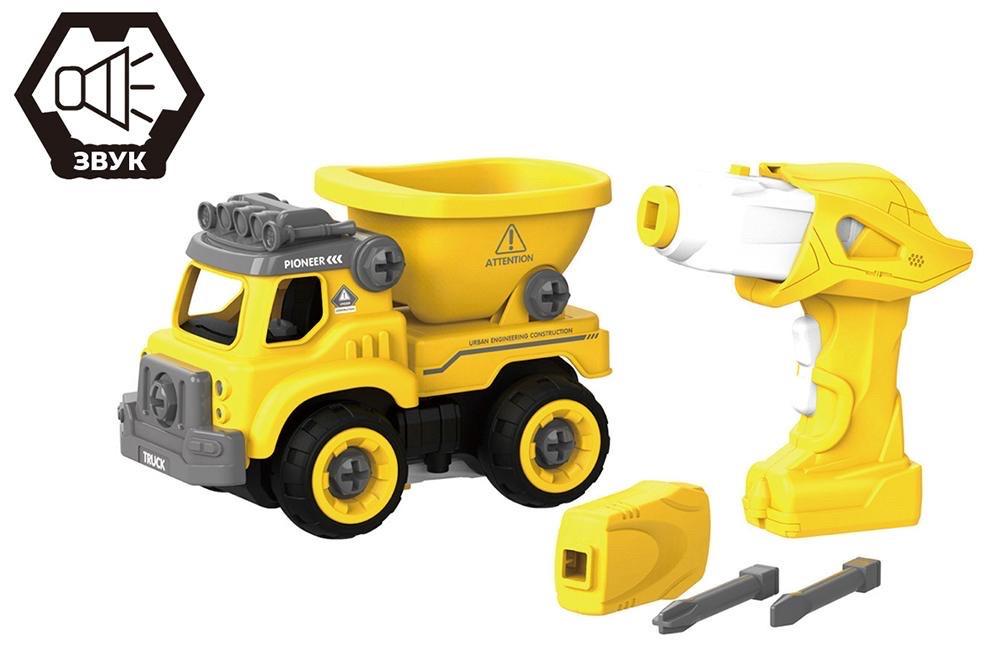 Дитячий конструктор вантажівка Hulna на радіокеруванні 27 деталей