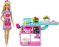 Barbie Florist Playset Набор кукла Барби флорист с плей до Набір лялька барбі магазин флориста з плей до