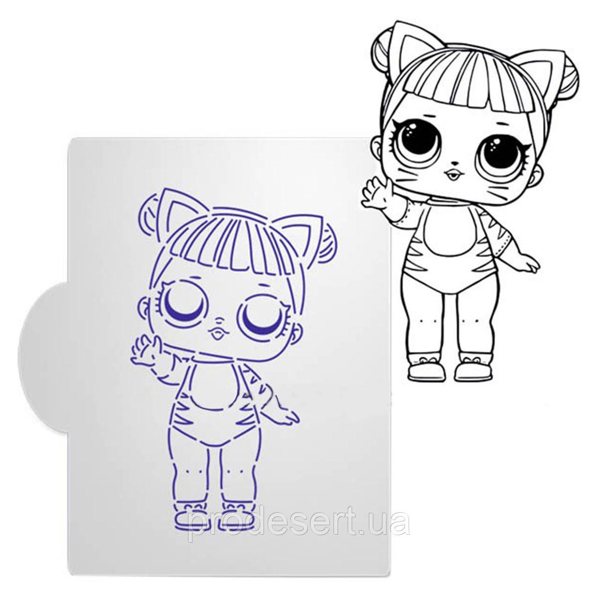 Кукла ЛОЛ-1 трафарет для пряников 11*7 см (TR-2)