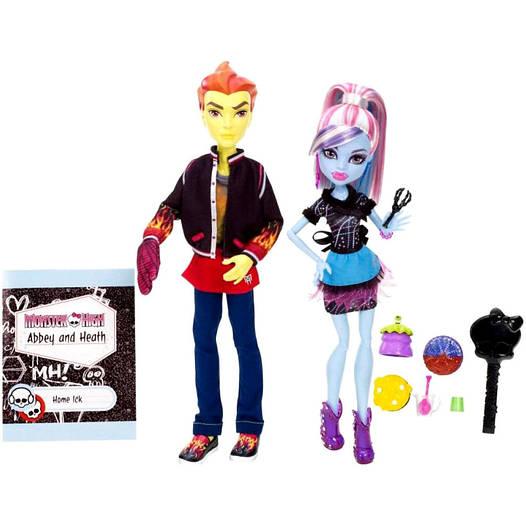 Monster High ляльки Еббі Бомінейбл і Хіт Бернс (Classroom Partners - Abbey Bominable and Heath Burns)