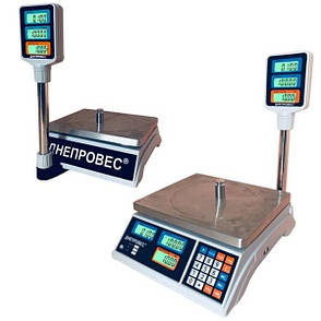 Весы торговые Днепровес ВТД-Т2-СВ/ЖК (30 кг), фото 2