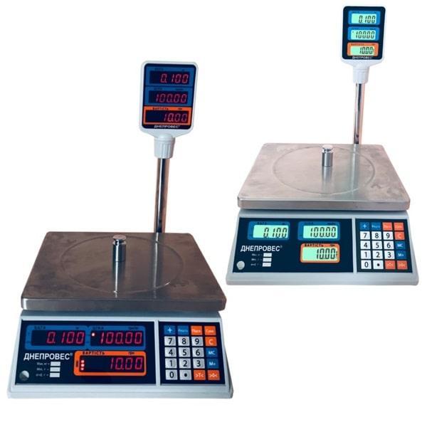 Весы торговые Днепровес ВТД-Т2-СВ/ЖК (30 кг)