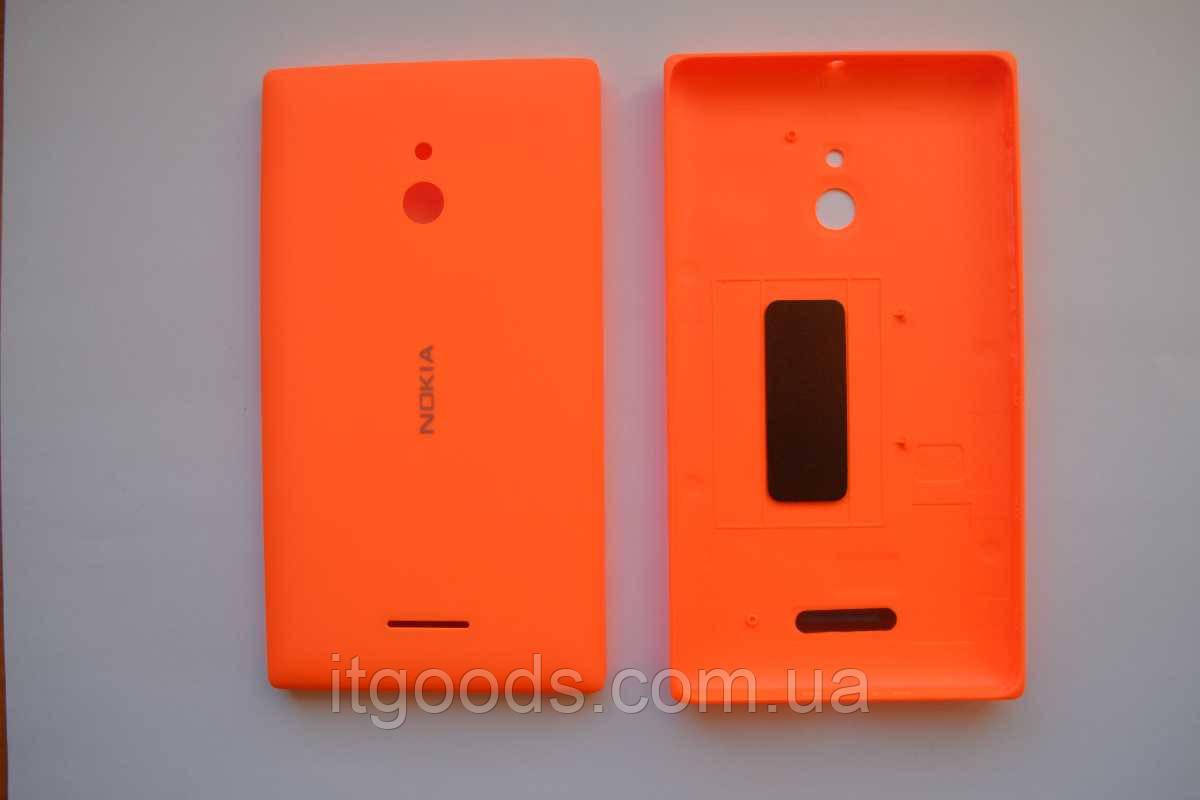 Задняя оранжевая крышка для Nokia XL + ПЛЕНКА В ПОДАРОК
