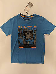 Детская футболка на мальчика подростка Metropolis на рост 158-164 см