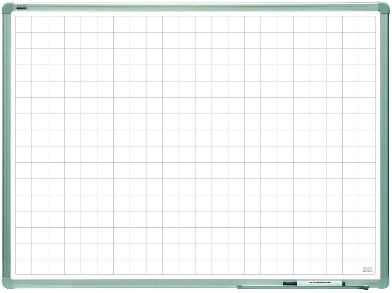 Магнитно-маркерная доска 2х3 разлинковая в клетку ALU23. Все размеры. Белая доска для рисования маркером