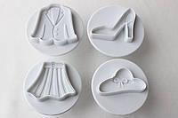 Плунжерная вырубка Одежда (4шт)