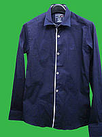 Рубашка для мальчика синяя (158) Турция