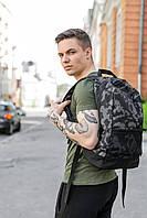 Рюкзак Intruder Brand Городской для ноутбука серый камуфляж портфель