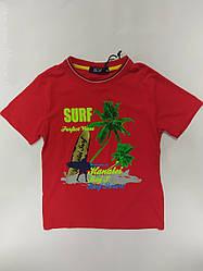 Красная детская футболка на мальчика на рост 146\152 см