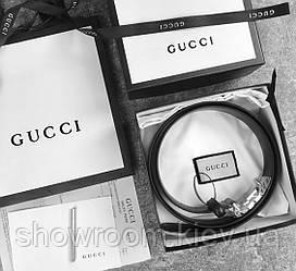 Женский кожаный ремень в подарочной упаковке GG (414516) Lux