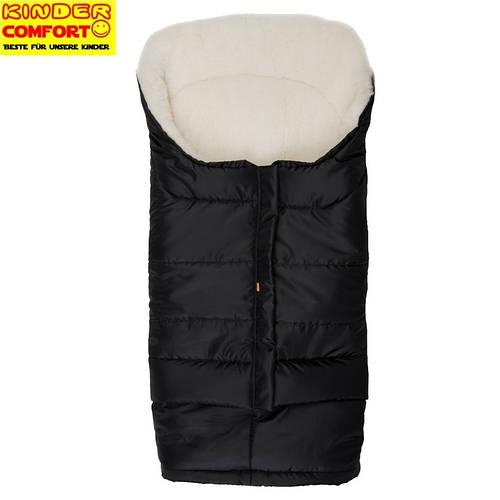 Меховой конверт в коляску и санки Polar (Черный), Kinder Comfort