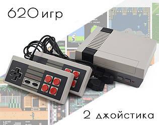 Ретро игровая консоль (игровая приставка) 620 игр + 2 джойстика (7724)