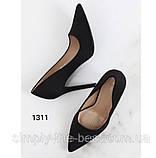 Туфлі жіночі класичні чорні, фото 3