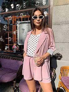 Жіночий костюм 3-ка в рожевому кольорі