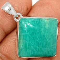 Срібний кулон з амазонитом, 772ПА