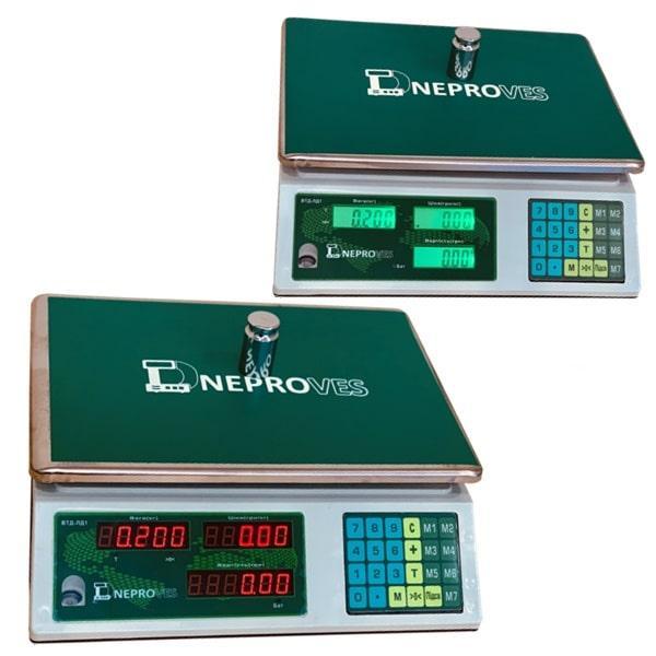 Весы торговые Днепровес ВТД-ЛД1 СВ/ЖК (30 кг)