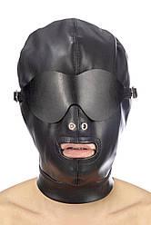 Капюшон для БДСМ зі знімною маскою Fetish Tentation BDSM in hood leatherette with removable mask