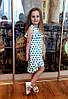 Р.128-152 распродажа! детское платье Бьянка в горошек летнее